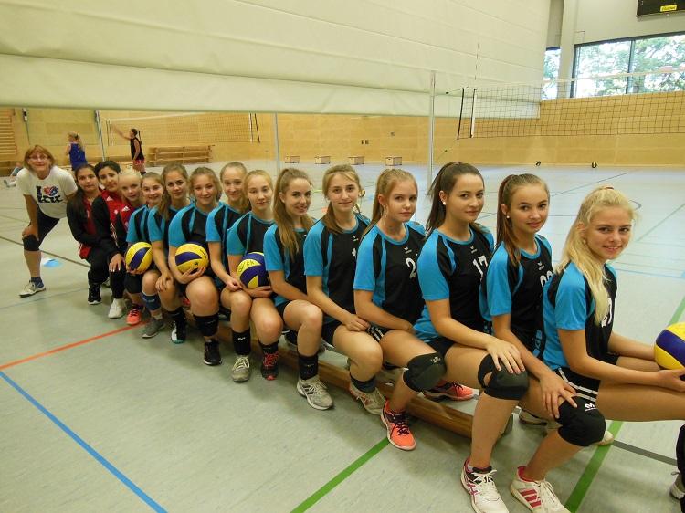 mannschaftsfoto der 2. Damen Volleyball-Mannschaft des TSV KK