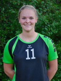 Spielerin in der 1. Damen Mannschaft Volleyball des TSV KK: Außenangreiferin Jana Deppe