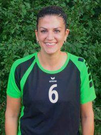 Spielerin in der 1. Damen Mannschaft Volleyball des TSV KK: Außenangreiferin Jasmin Gottlob