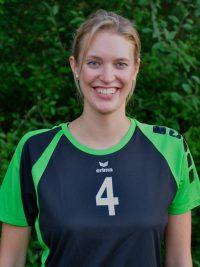 Spielerin in der 1. Damen Mannschaft Volleyball des TSV KK: Mittelangreiferin Nicole Templin