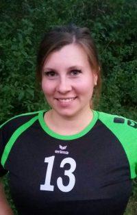 Spielerin in der 1. Damen Mannschaft Volleyball des TSV KK: Außenangreiferin Franziska Gosewisch