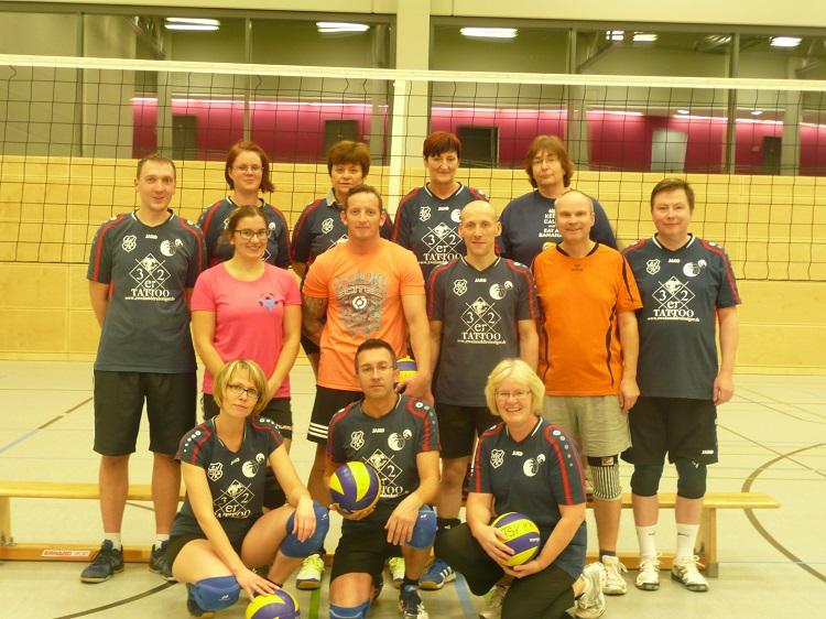 Volleyball Mixed-Mannschaft 2016 des TSV Krähenwinkel/Kaltenweide