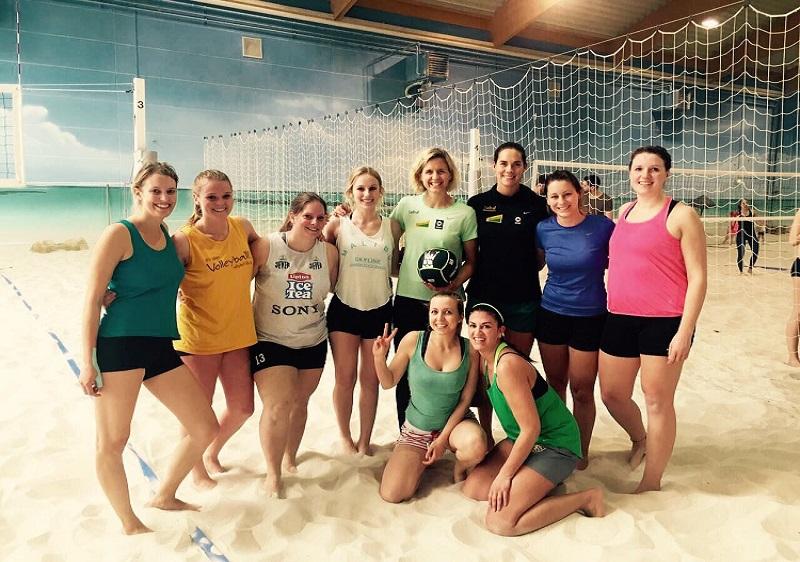 TSV KK Volleyballdamen treffen Olympiasiegerinnen