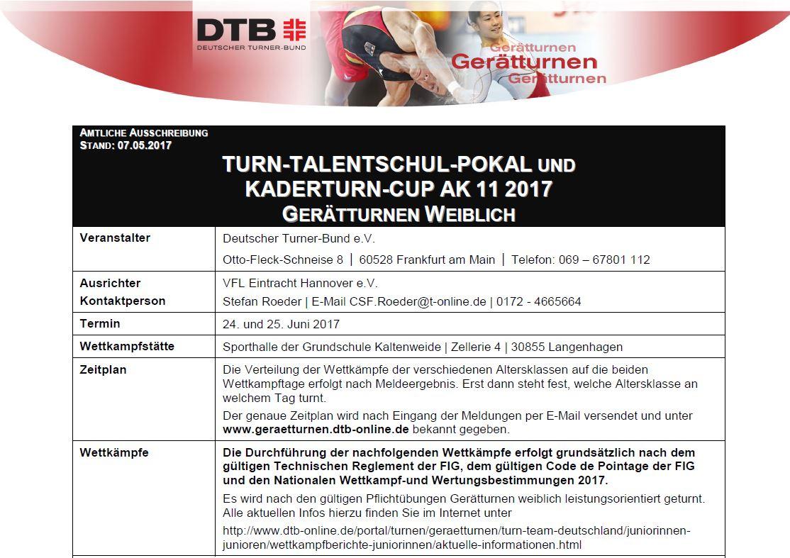 TSV KK TTSP 2017 Ausschreibung Bild