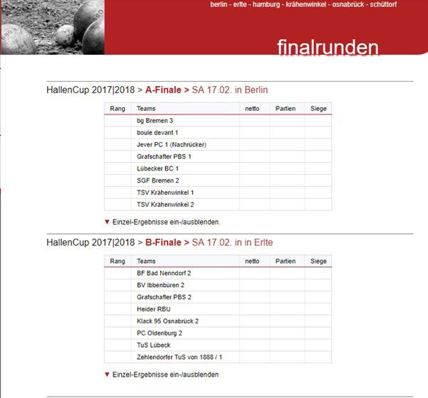 TSV KK Pétanque Finalrunde